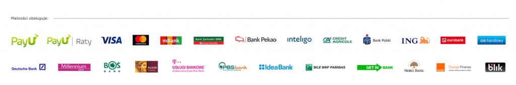 Lista obsługiwanych metod płatności PayU